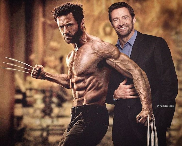 photoshop holywood actors and character hugh jackman wolverine gelinck
