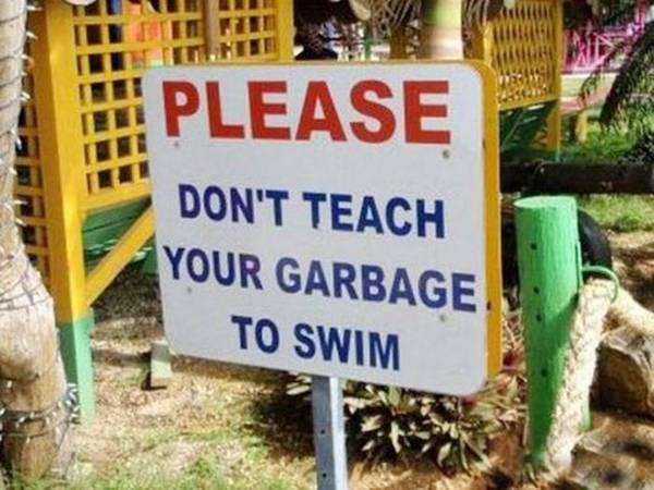 funny cleanliness signboard found around world
