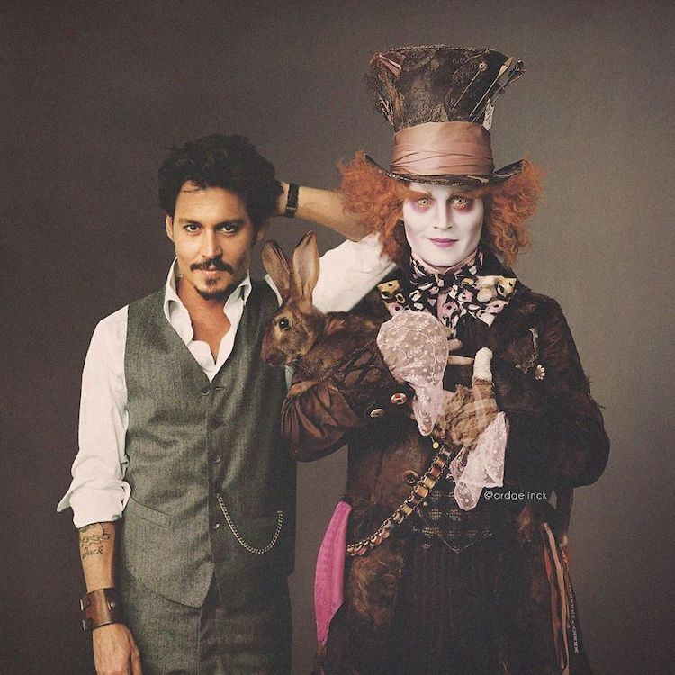 photoshop holywood actors and character johnny depp hatter gelinck