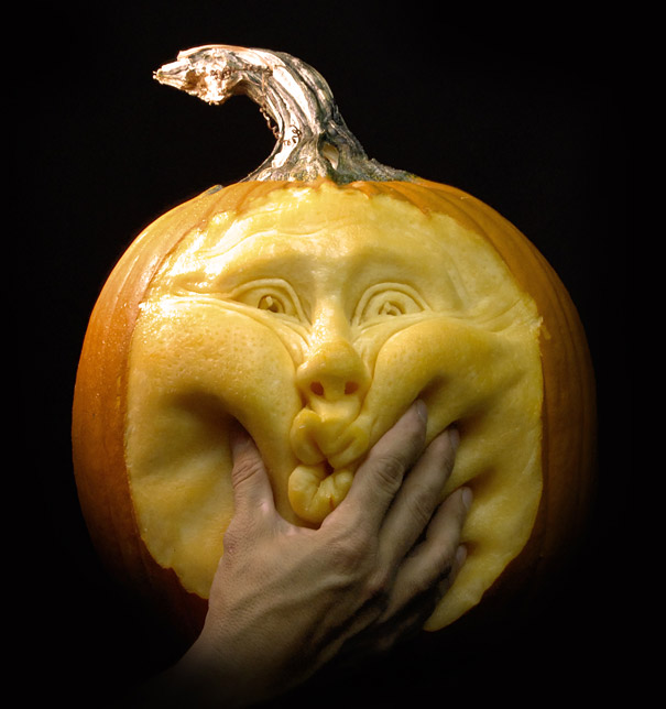 halloween pumpkin sculptures face villafane studios