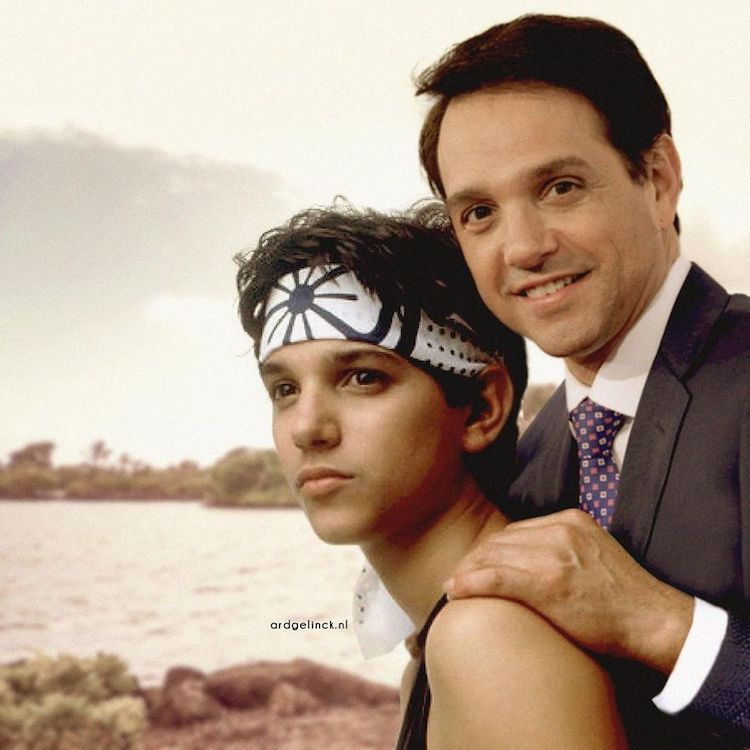 photoshop holywood actors and character ralph macchio daniel larusso gelinck