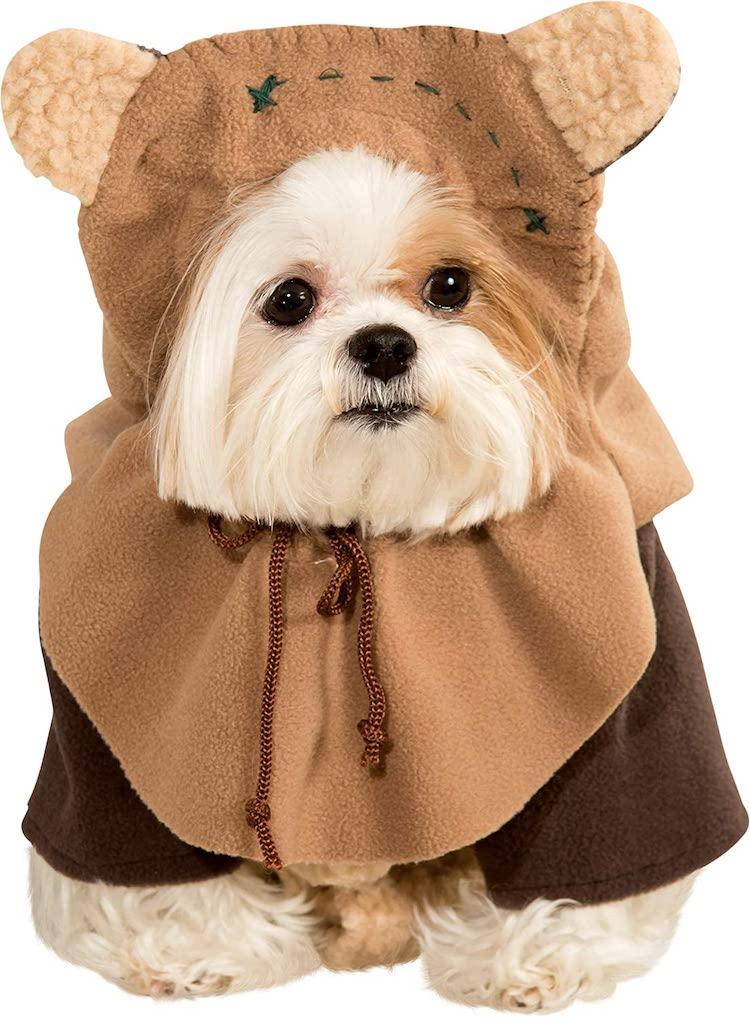 admirable halloween pet costume ewok star wars dog