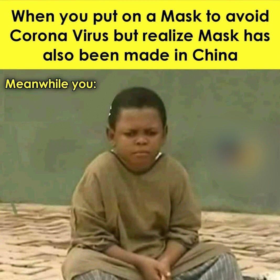 funny mask corona virus memes
