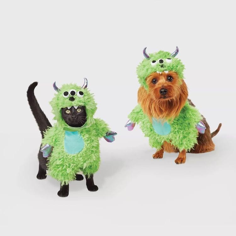 adorable halloween pet costume green monster pet