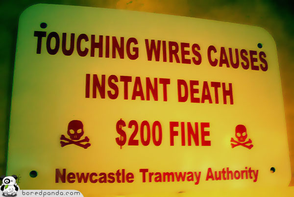 funny electricity signboard found around world