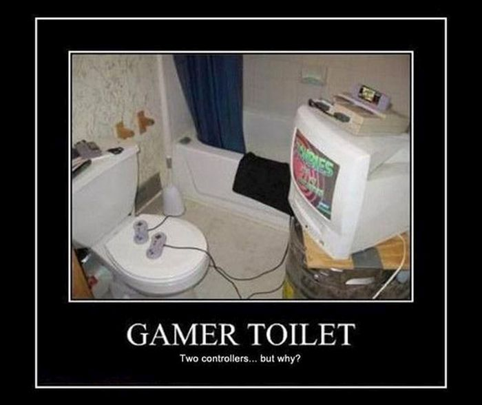 funny toilet gamer computer image