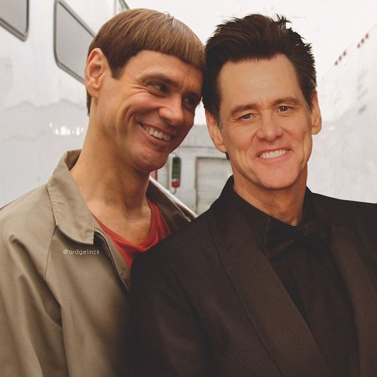 photoshop holywood actors and character jim carrey lloyd christmas gelinck
