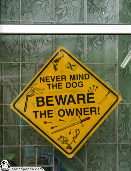 funny dog signboard found around world