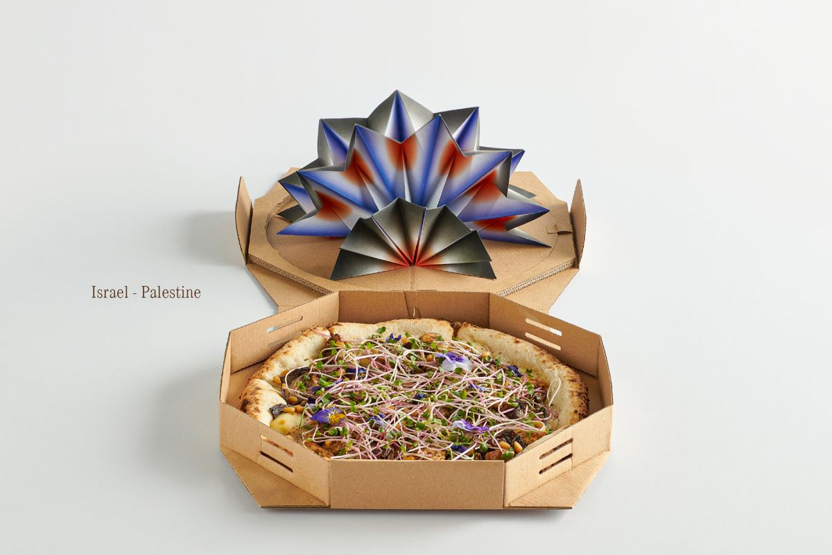 pizza packaging design idea peace pizza4ps