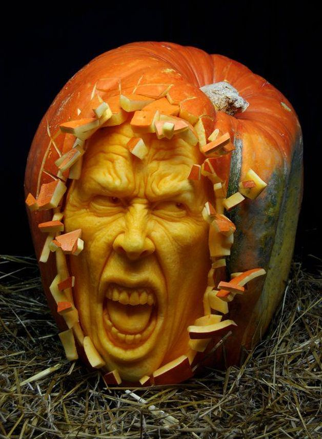 halloween pumpkin carving sculptures face villafane studios