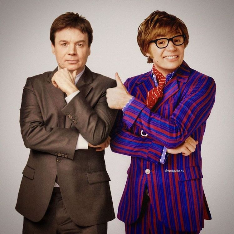 photoshop holywood actors and character mike myers austin powers gelinck
