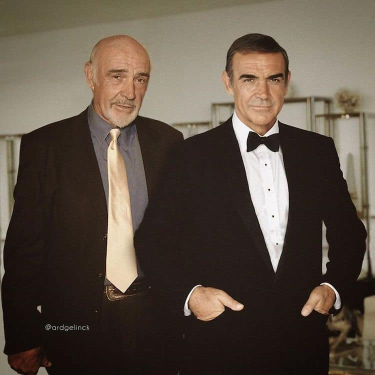 photoshop holywood actors and character sean connery james bond gelinck