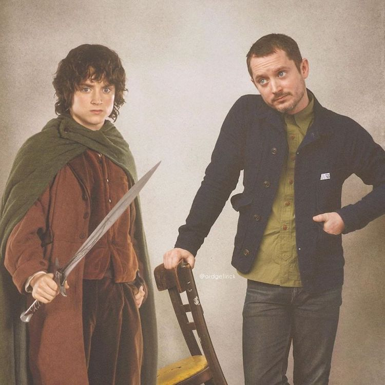 photoshop holywood actors and character elijah wood frodo baggins gelinck