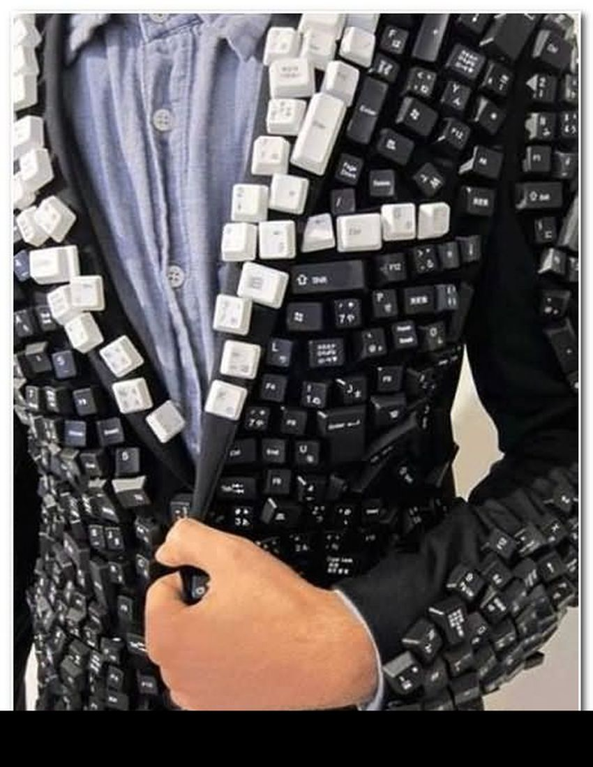 funny computer keyboard suit image