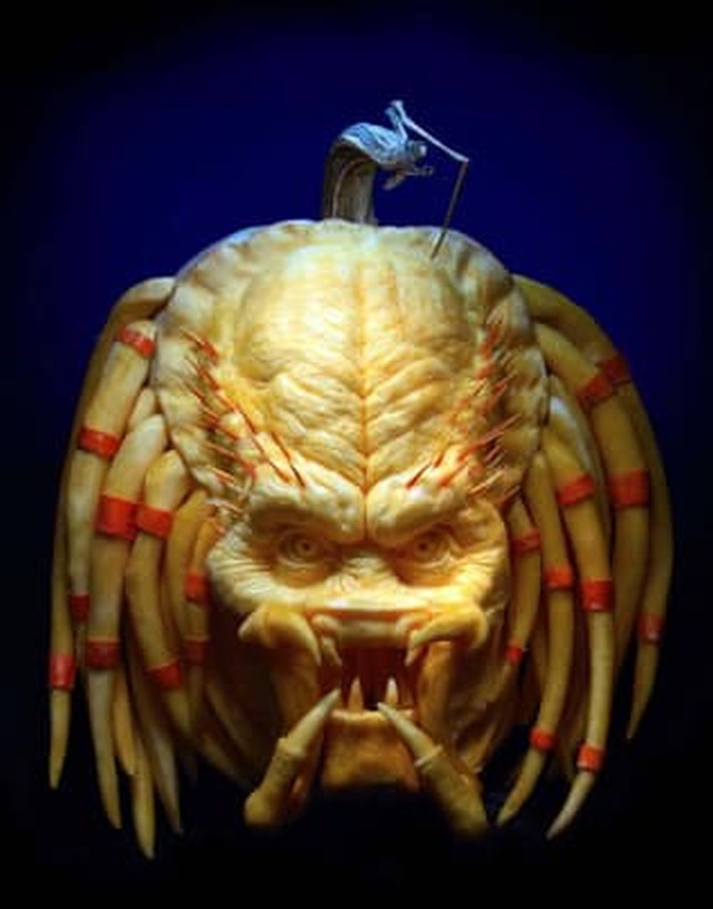 halloween pumpkin carving sculptures aliens villafane studios