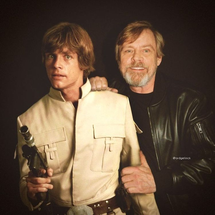 photoshop holywood actors and character mark hamill luke skywalker gelinck