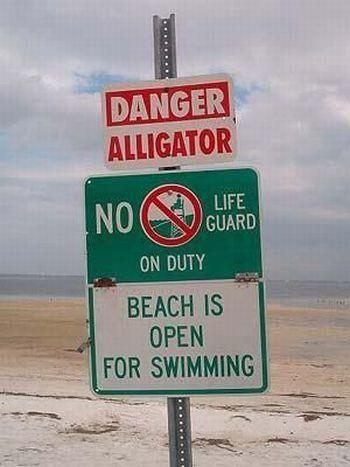 funny beach signboard found around world