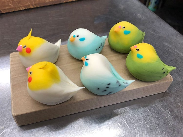japanese wagasi sweet bird chef kurokazu