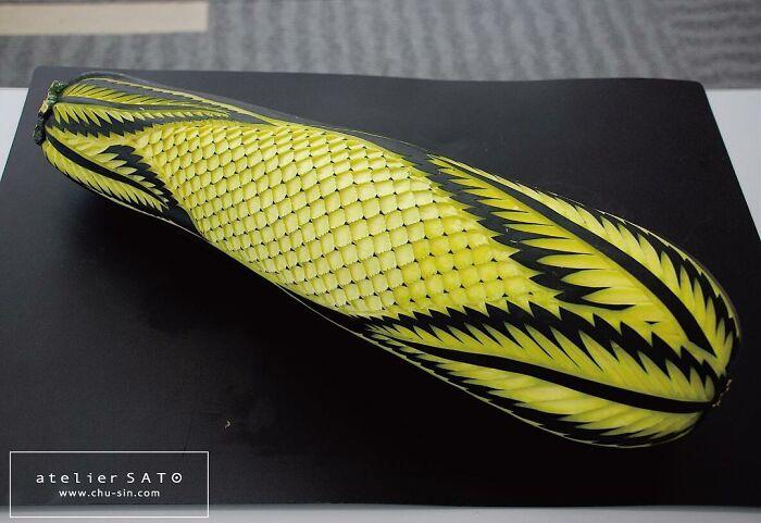 beautiful vegetable carving cucumber tomoko sato