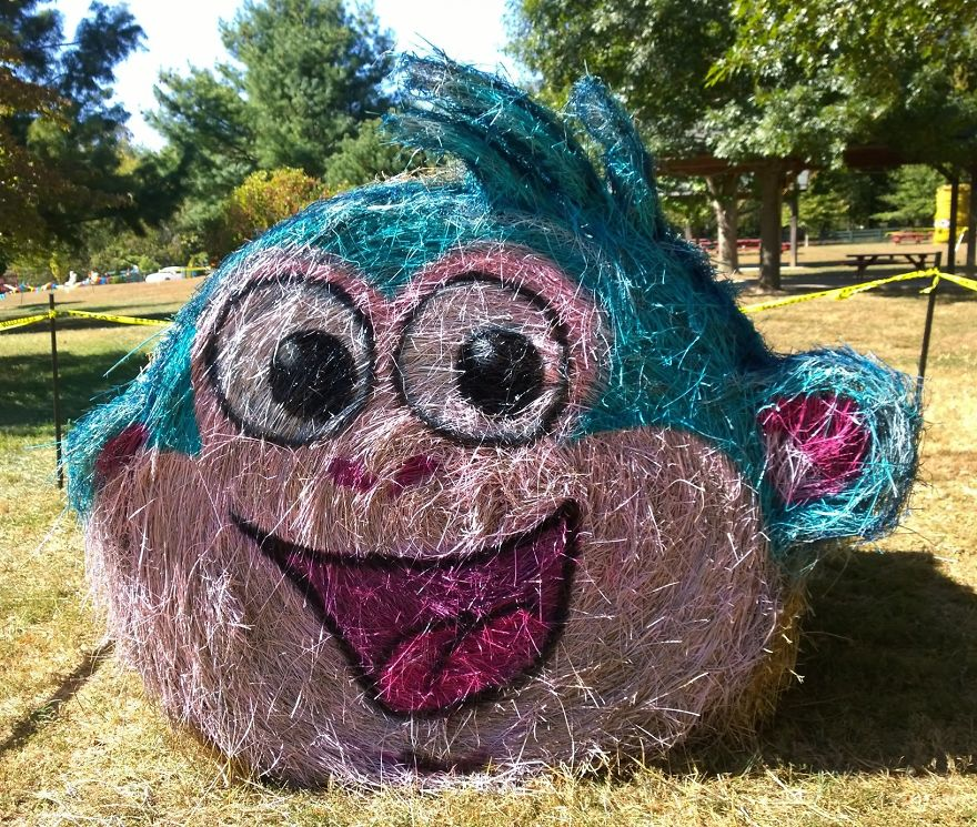 funny halloween hay bale art boots monkey jean marie smith
