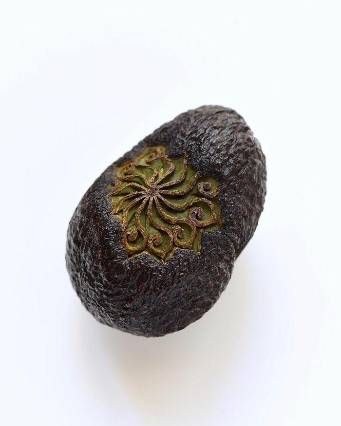 beautiful fruit carving avocado tomoko sato