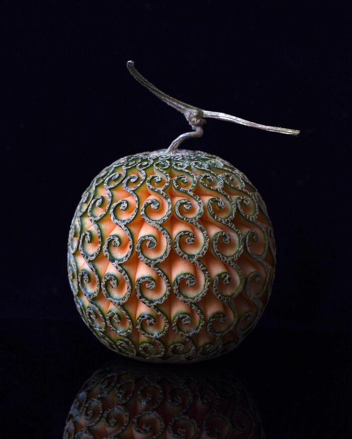 beautiful fruit carving musk melon tomoko sato