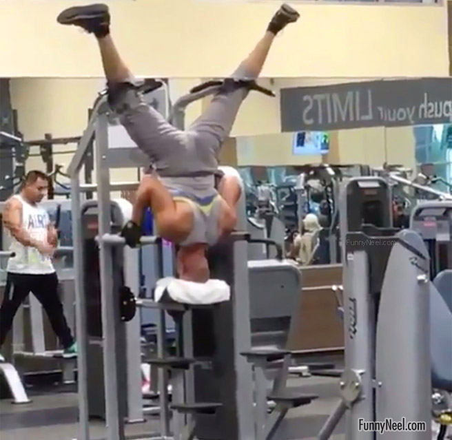 body builder working out gym