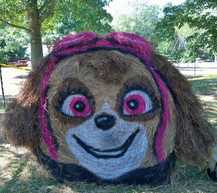 funny halloween hay bale art skye jean marie smith