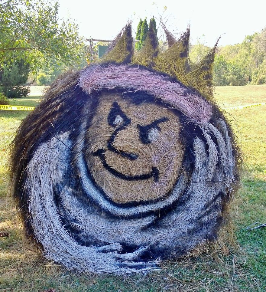 funny halloween hay bale art max jean marie smith