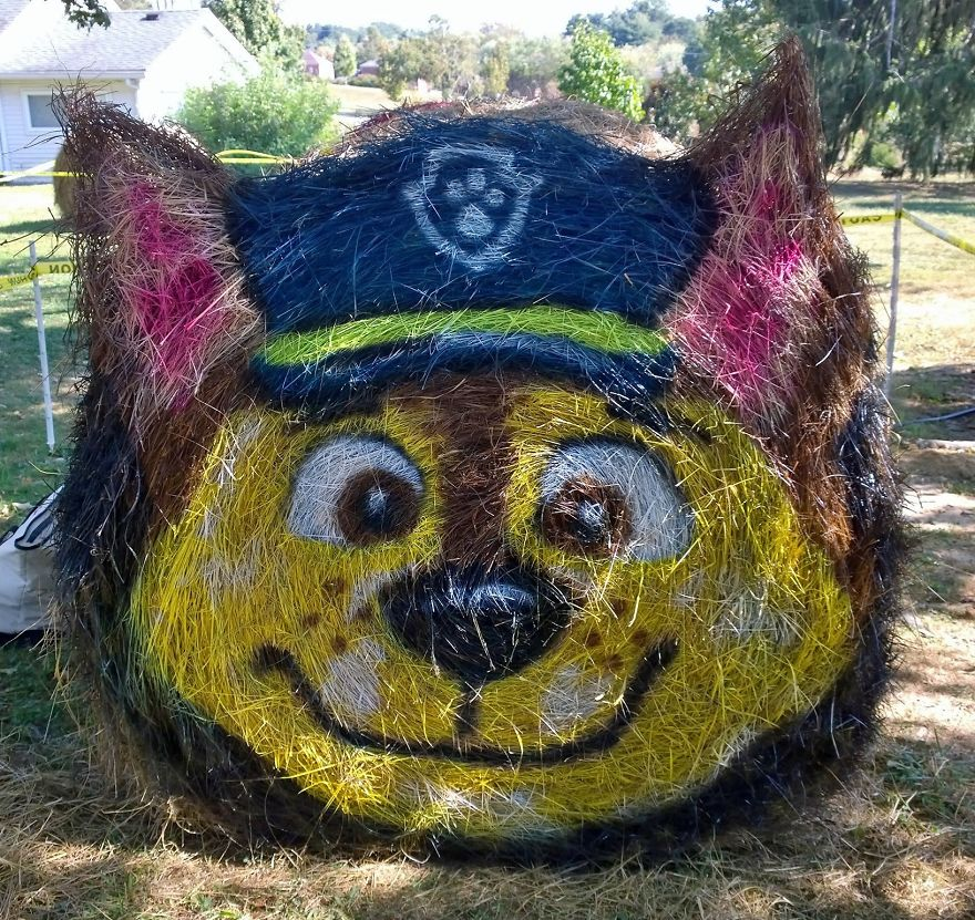 funny halloween hay bale art chase jean marie smith