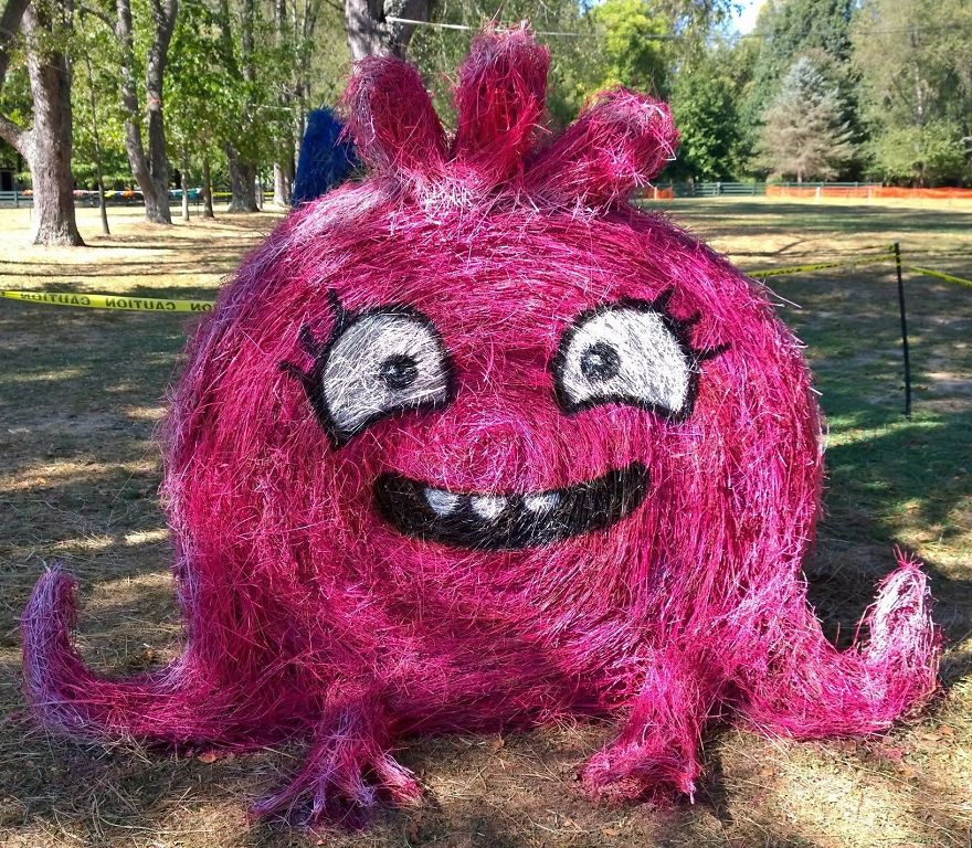 funny halloween hay bale art moxy jean marie smith