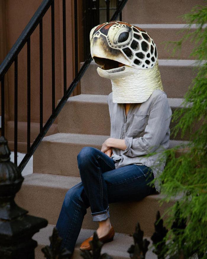 funny animal face mask snake liz sexton