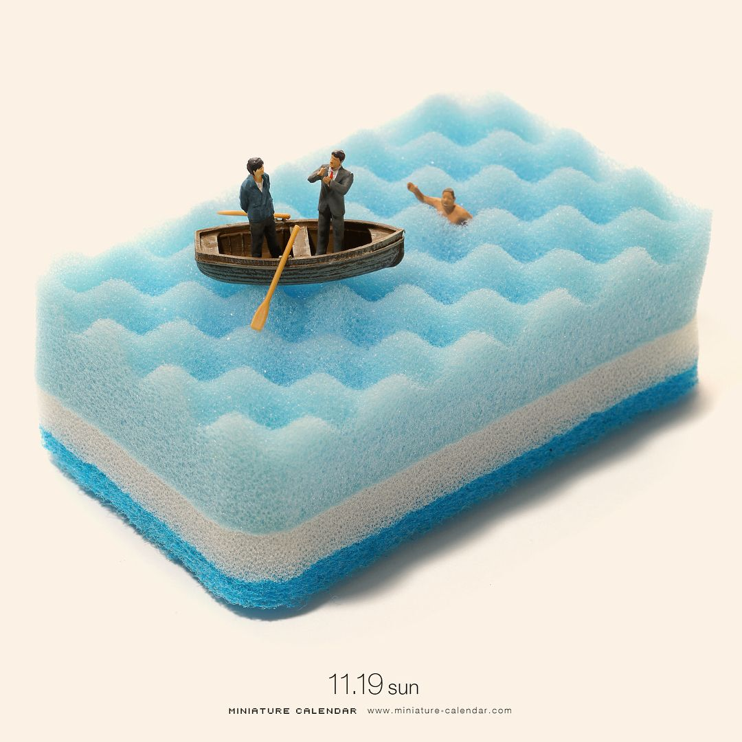 miniature calender sponge sea tatsuya tanaka