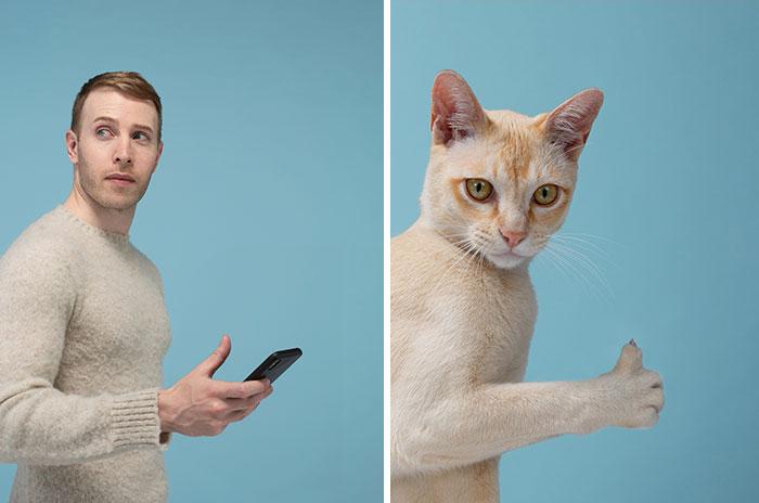 funny cat and human lookalike gerrard gethings