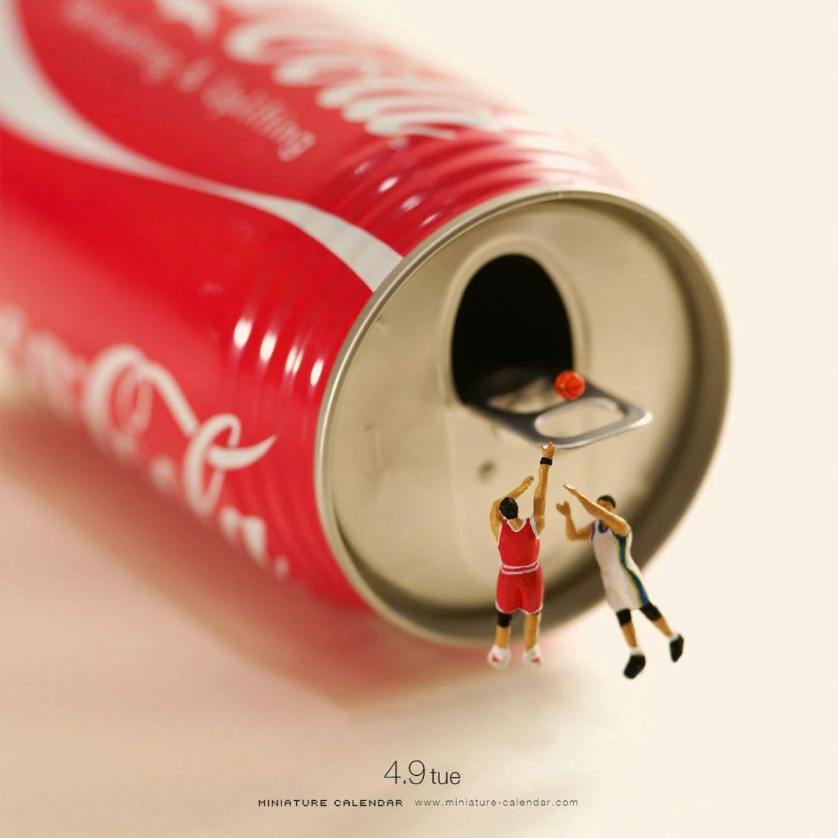 funny miniature photography coke basketball tatsuya tanaka