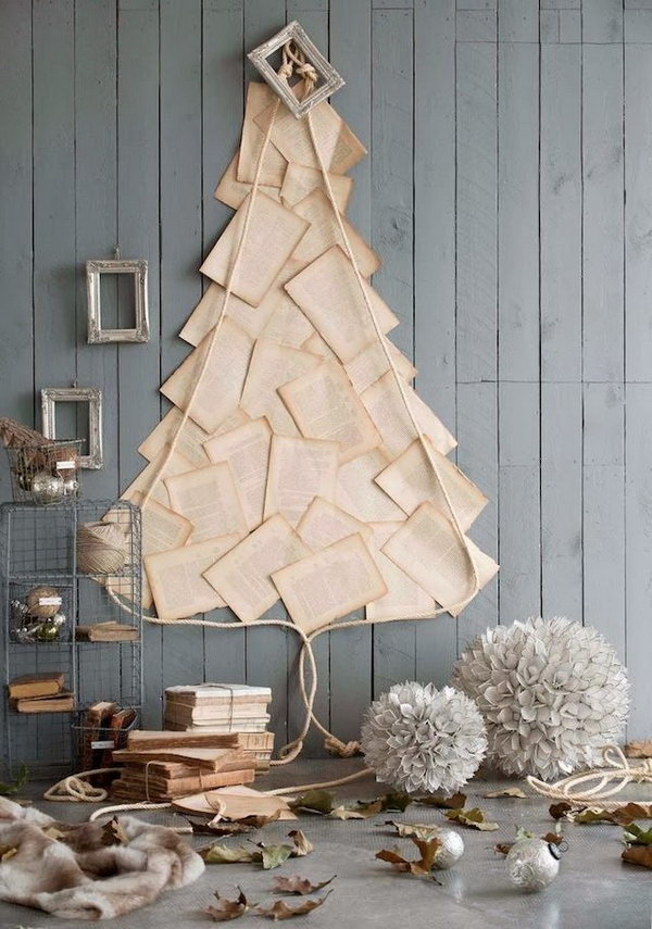 creative paper christmas tree decoration idea