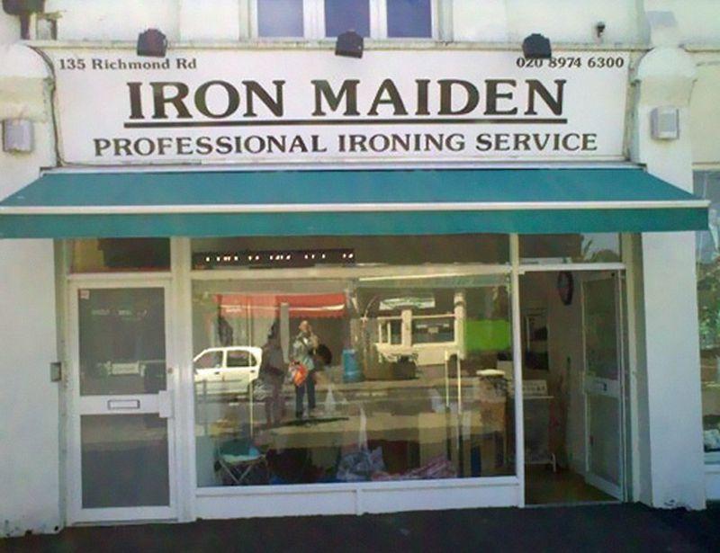 creative shop names iron maiden