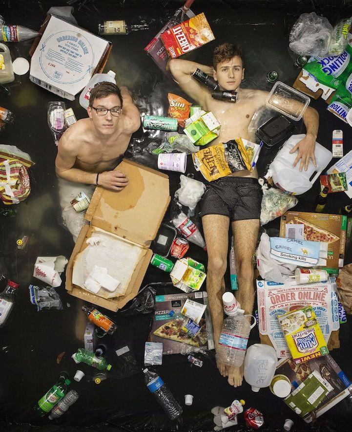 plastic capmpaign waste garbage gregg segal