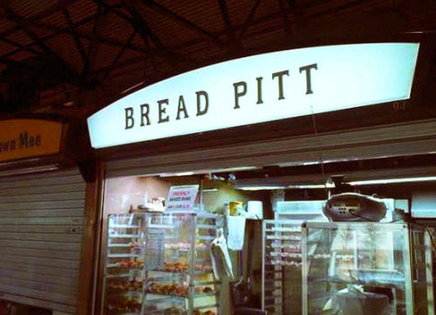 funny british shop names bread pitt