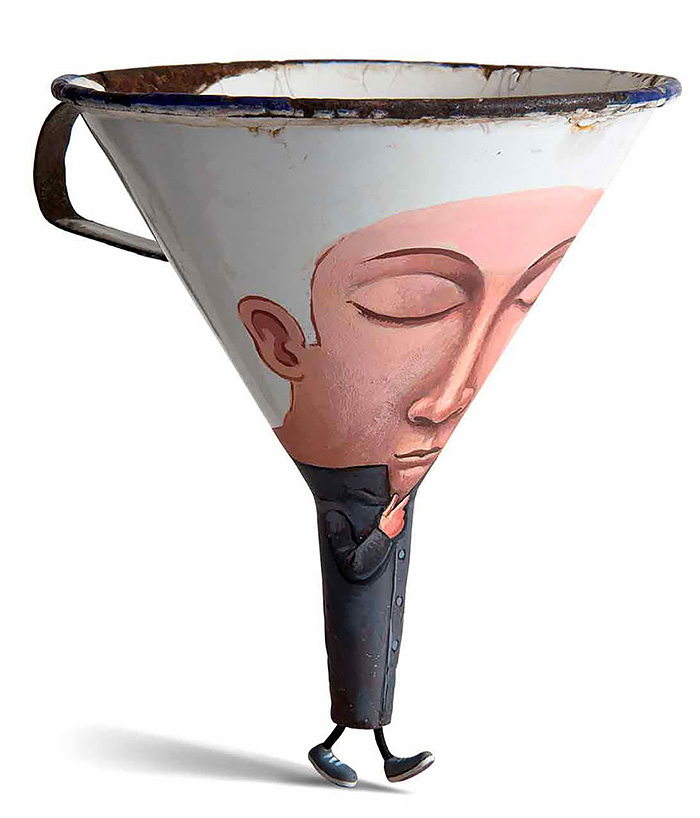 funny painting idea funnel gilbert legrand
