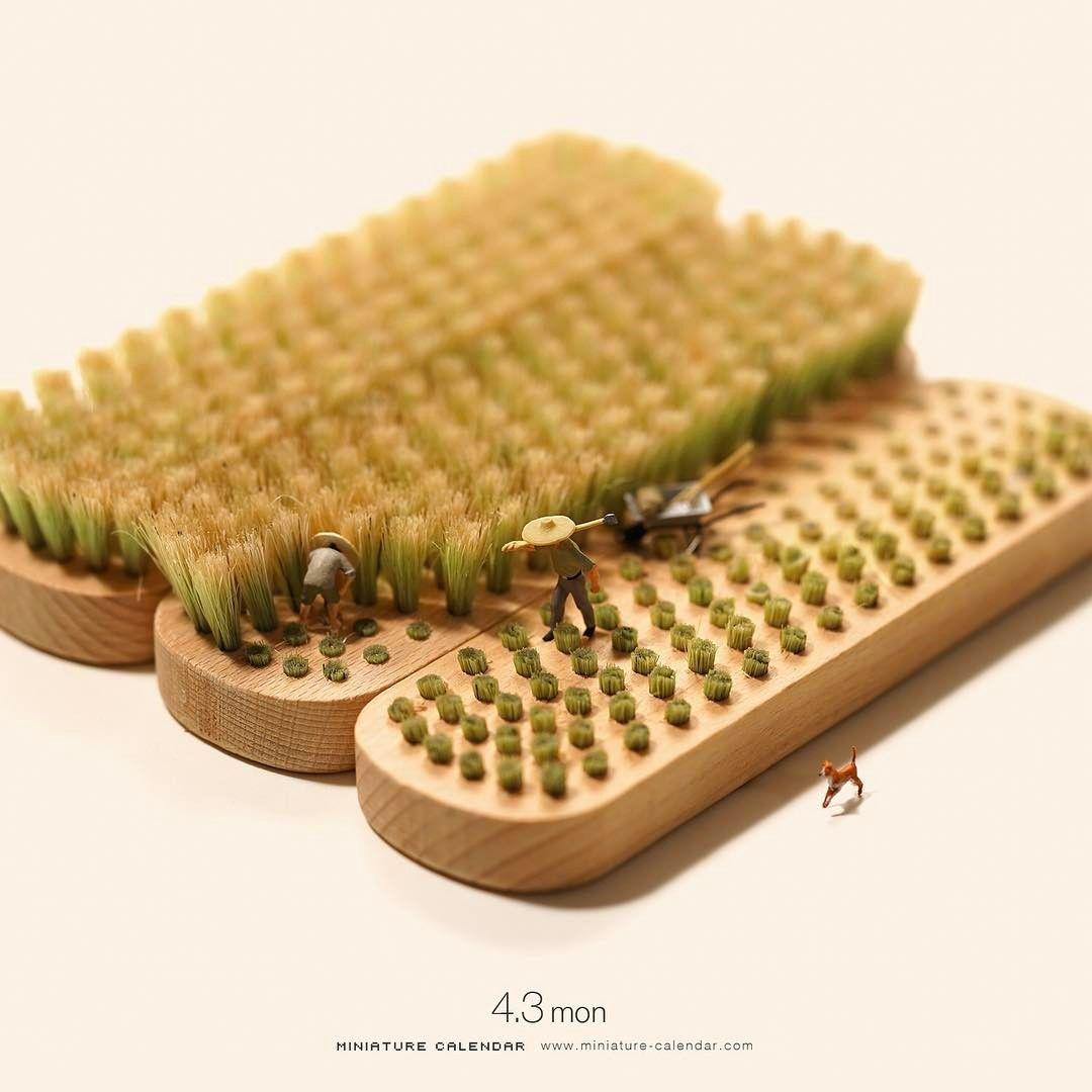 miniature photography brush tatsuya tanaka