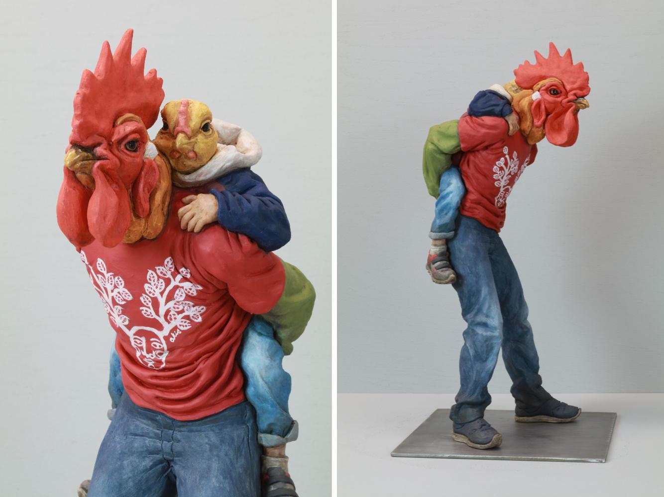 funny clay sculpture alessandro galo
